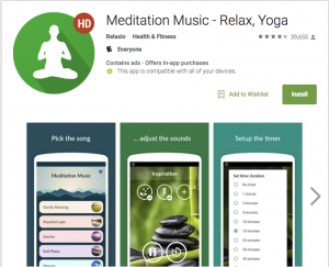 Relaxio Meditation App