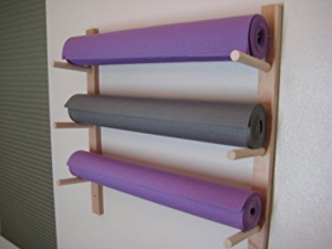 Foam Roller and Yoga Mat Storage Rack Wall Mount in Sustainable