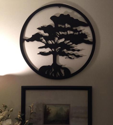Classy Tree of Life Metal Wall Art Decor
