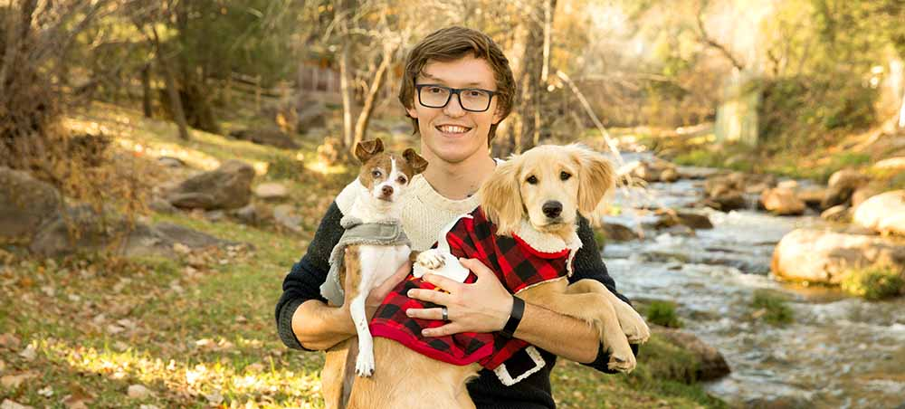Chase with his Dogs
