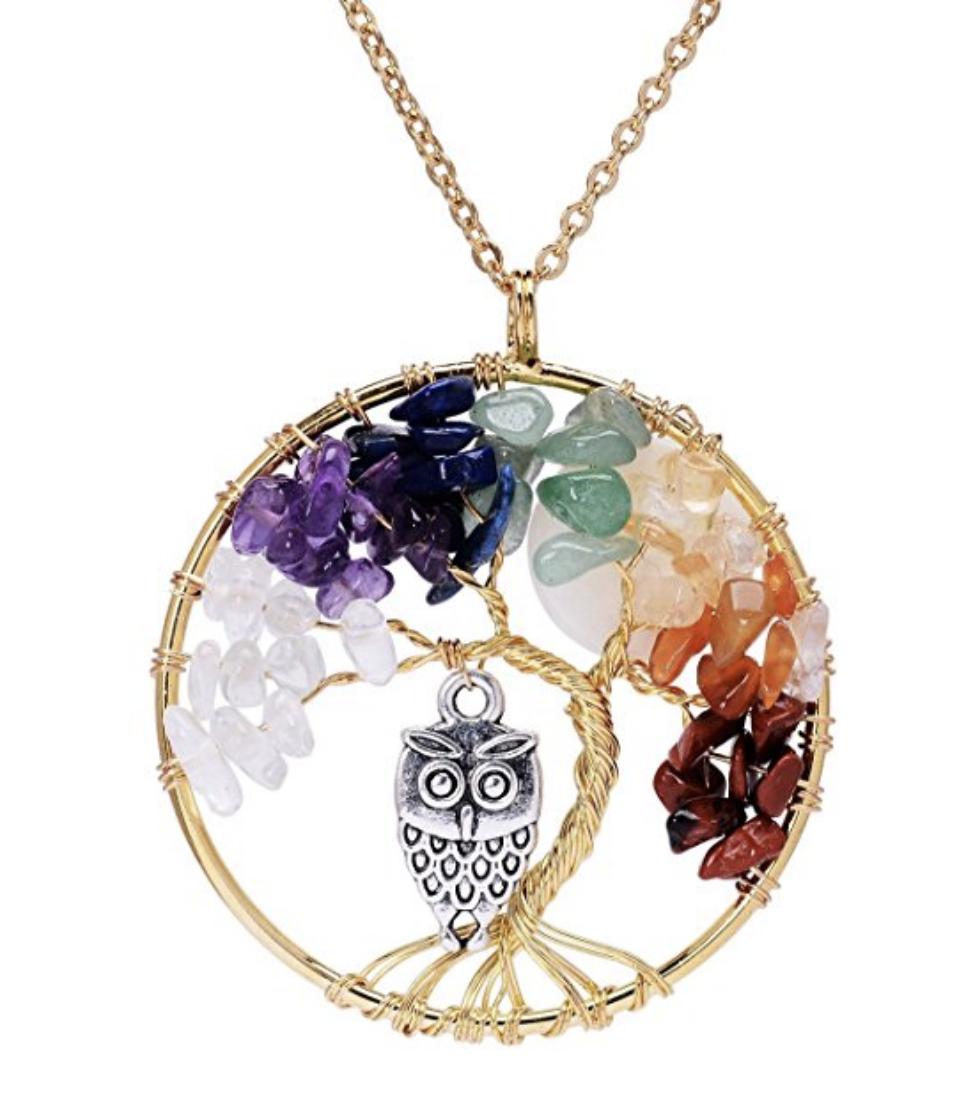 Owl Chakra Healing Necklace