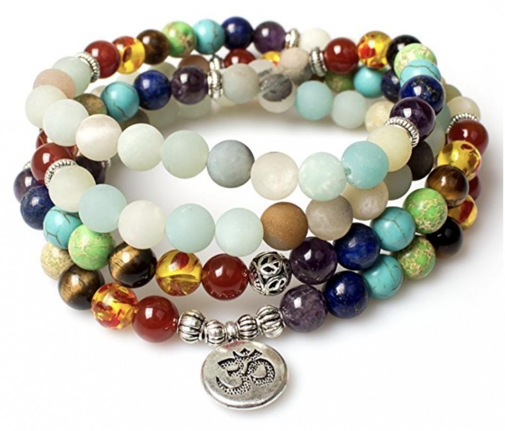 Mala Beaded Chakra Healing Bracelet Variation
