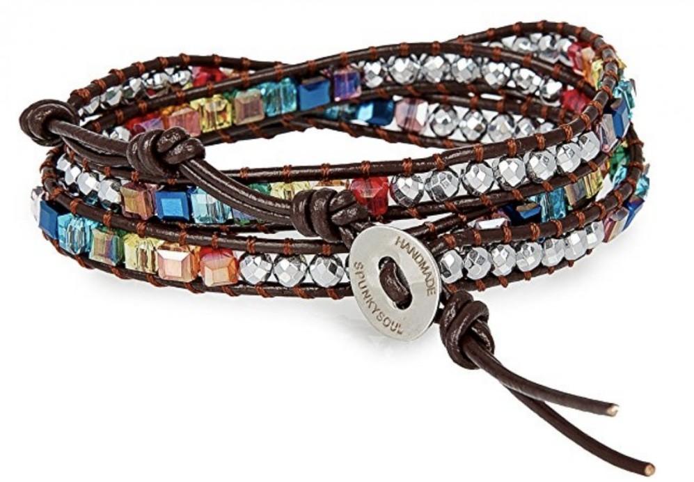 SPUNKYsoul Chakra Balancing Leather Warp Bracelt